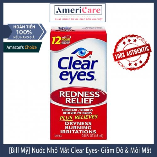 Thuốc nhỏ mắt Clear Eyes Redness Relief